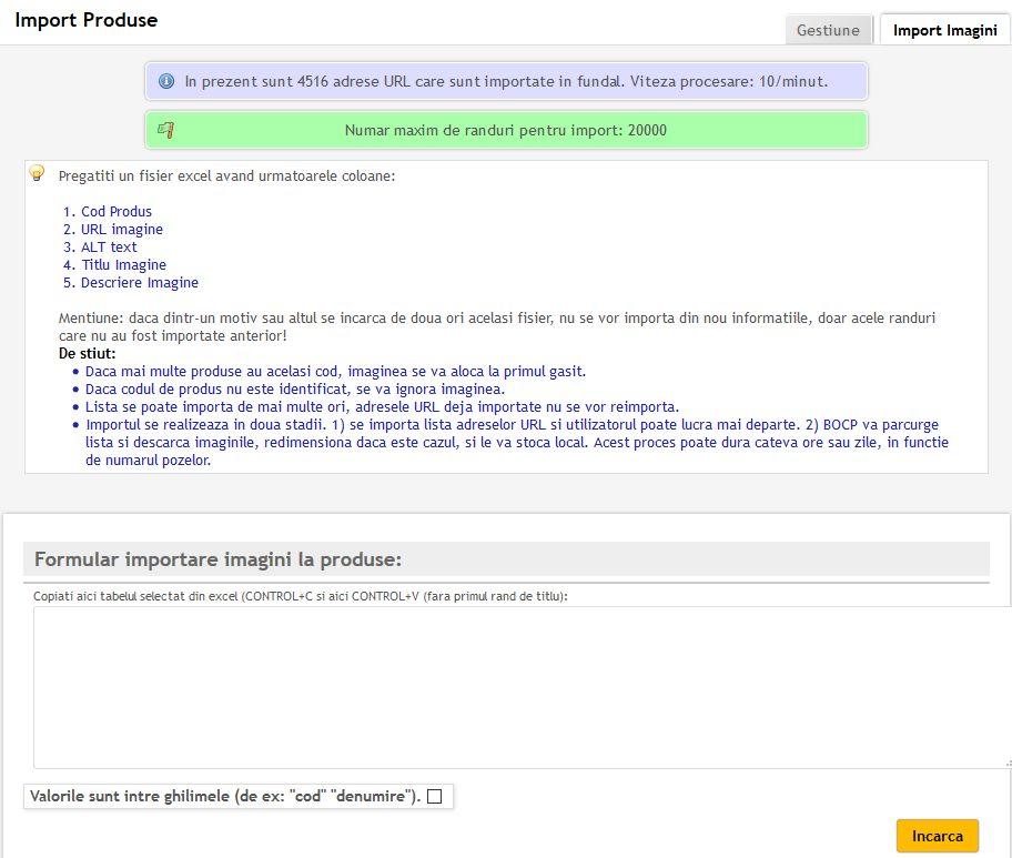 import imagini produse in gestiune