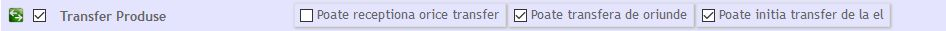configurare drept transfer
