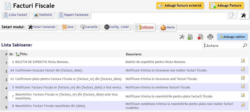 configurare sablon confirmare plata prin email
