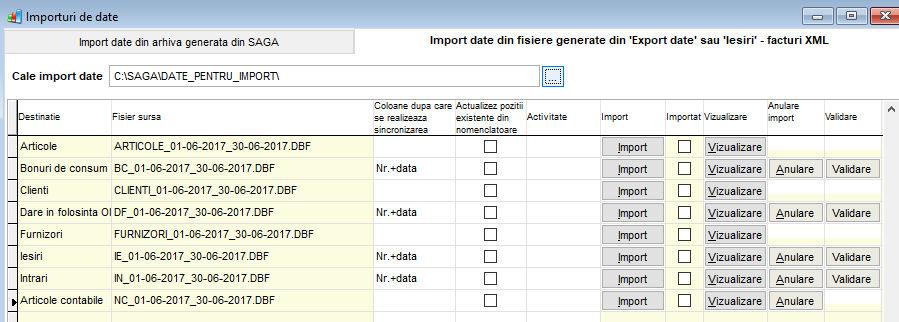 Exportare Date catre Saga C   Manual de Utilizare BOCP