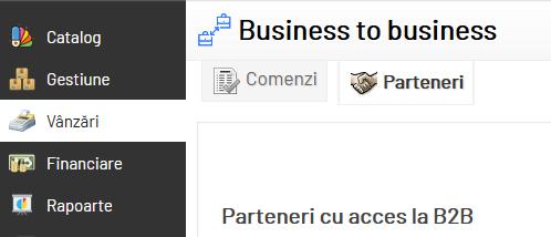 adaugare parteneri la acces site B2B